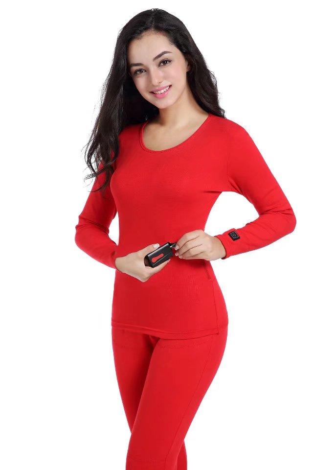 SM-H014BW/M 7.4V Winter Women/Ladies Heated Thermal Underwear 100% Polyester